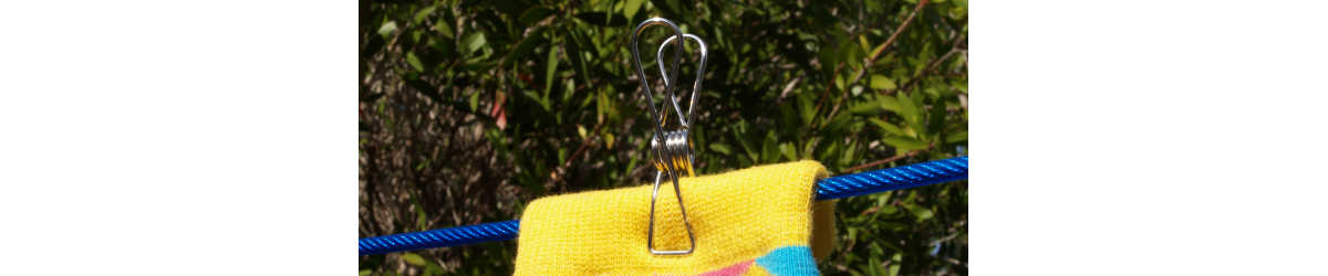 The 'normal' ones: Grade 201 ss wire clothes pegs 5.8cm long, 1.75mm wire diameter