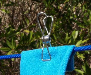 stainless steel wire pegs in cotton bag